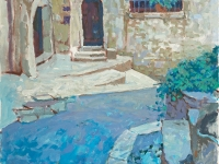 House in Bonnieux, oil on canvas, 50cm x 70cm