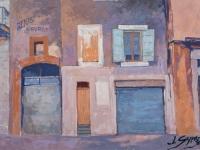 Garages in Apt, oil on canvas, 70cm x50cm