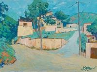 Houses on the Edge of Apt, oil on canvas, 70cm x 50cm