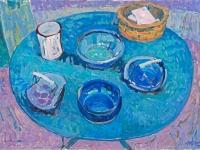 Pottery, Saignon, oil on canvas, 70cm x 50cm