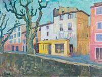 Quai de la Liberte, Apt, oil on canvas, 70cm x 50cm